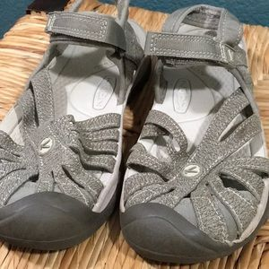 Keen Shoes - KEEN BROWN LEATHER ANKLE STRAP SANDALS, SIZE US 7